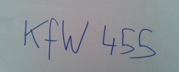 """Schriftzug """"KfW 455"""""""