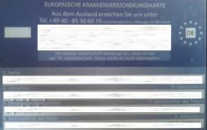 Die Europäische Gesundheitskarte.