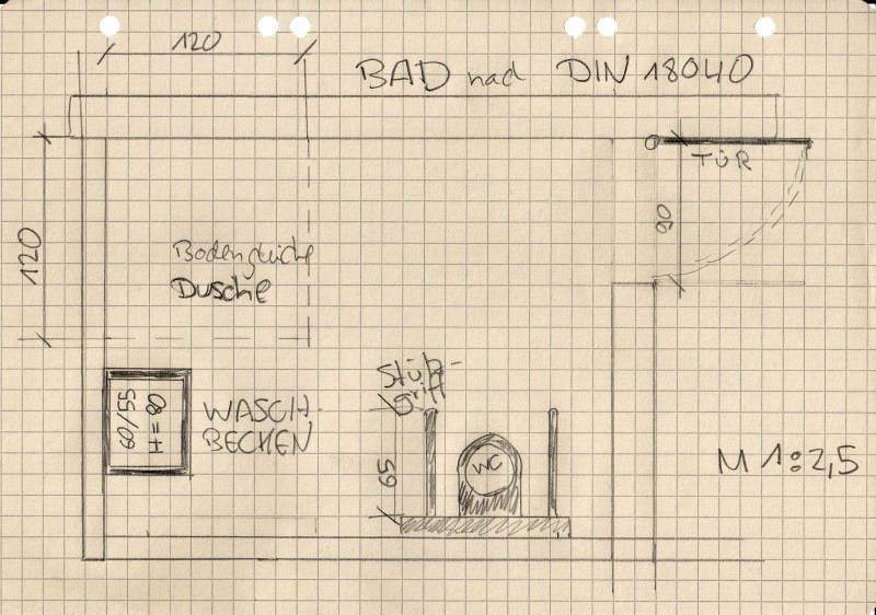 skizze barrierefreies bad handicap bazar. Black Bedroom Furniture Sets. Home Design Ideas