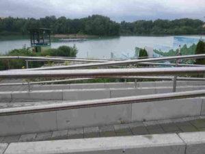 Das Bild zeigt eine Rampe zum Seelift Rodgau.