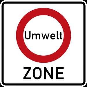 Verkehrszeichen Beginn der Umweltzone