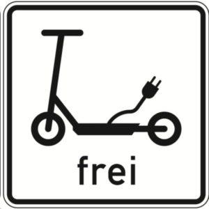 Verkehrszeichen E-Scooter.