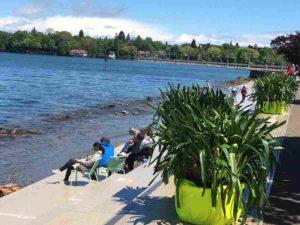 Das Foto zeigt den Strand der hinteren Lindauer Insel auf der Gartenschau.